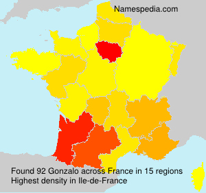 Surname Gonzalo in France