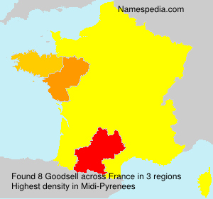 Surname Goodsell in France