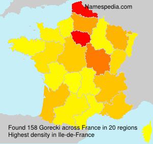 Surname Gorecki in France