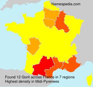 Surname Gorit in France