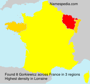 Familiennamen Gorkiewicz - France