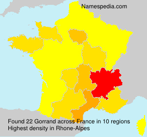 Familiennamen Gorrand - France