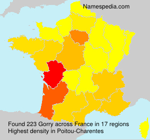 Surname Gorry in France
