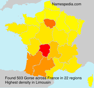 Surname Gorse in France