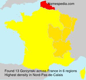 Surname Gorzynski in France
