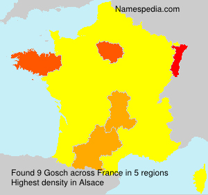Surname Gosch in France