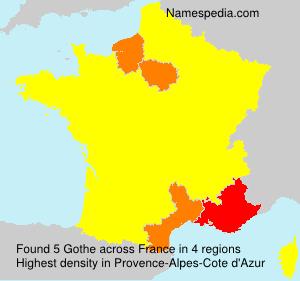 Surname Gothe in France