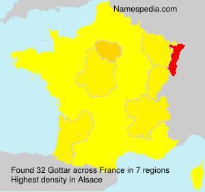 Surname Gottar in France