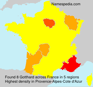 Surname Gotthard in France