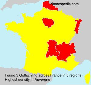 Familiennamen Gottschling - France