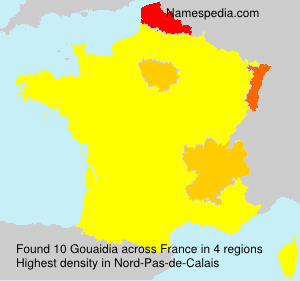 Surname Gouaidia in France