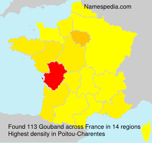 Surname Gouband in France