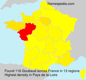 Surname Goubaud in France