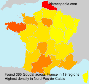 Surname Goudal in France