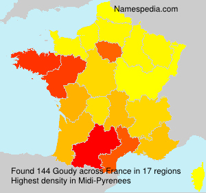 Surname Goudy in France