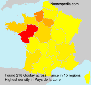 Surname Goulay in France