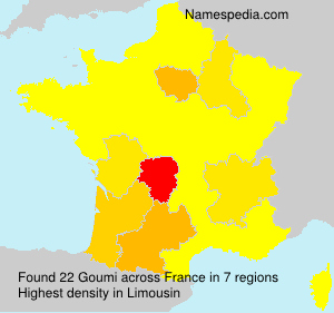 Surname Goumi in France