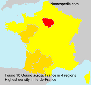 Surname Gouno in France