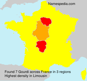 Surname Gourdi in France