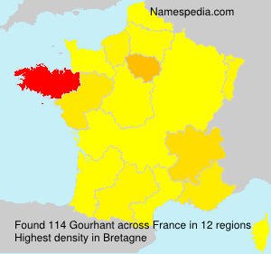Surname Gourhant in France