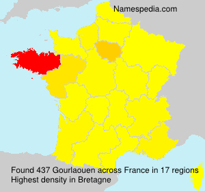 Surname Gourlaouen in France