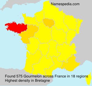 Surname Gourmelon in France