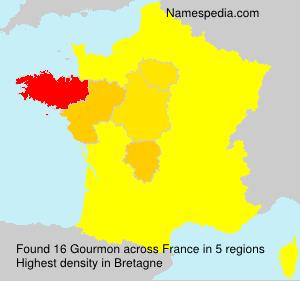 Familiennamen Gourmon - France