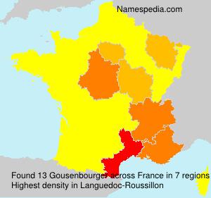 Surname Gousenbourger in France