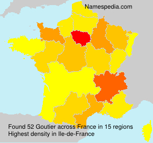 Surname Goutier in France