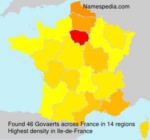 Surname Govaerts in France