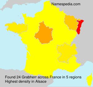 Surname Grabherr in France