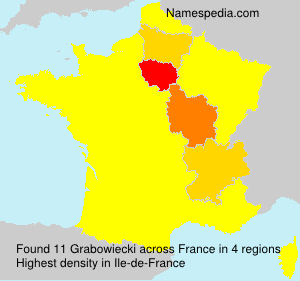 Surname Grabowiecki in France