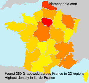 Surname Grabowski in France
