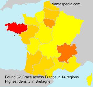 Familiennamen Grace - France