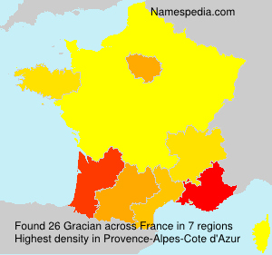 Surname Gracian in France