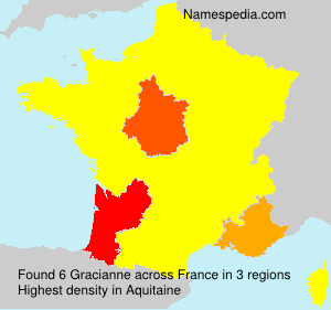 Surname Gracianne in France