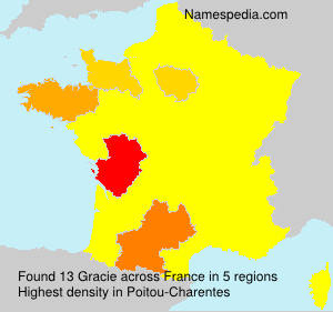 Surname Gracie in France