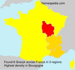 Familiennamen Gracyk - France
