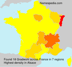 Familiennamen Gradwohl - France