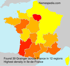 Surname Grainger in France