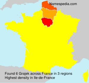 Familiennamen Grajek - France