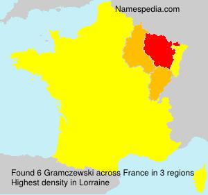 Surname Gramczewski in France