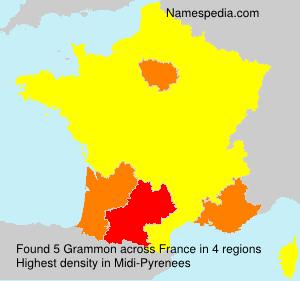 Surname Grammon in France