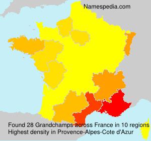 Surname Grandchamps in France