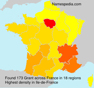 Surname Grant in France