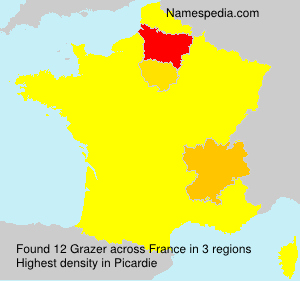 Surname Grazer in France