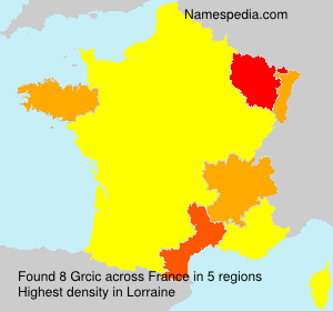 Surname Grcic in France