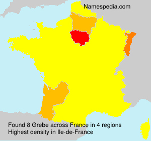 Surname Grebe in France