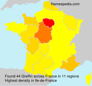 Surname Greffin in France