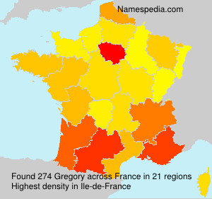 Surname Gregory in France